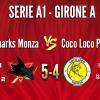 SHARKS MONZA A1 vs Coco Loco Padova 5-4
